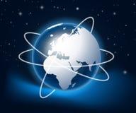 Moderne Erde in einem Web Lizenzfreie Stockbilder