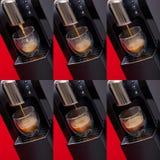 Moderne espressomachine Stock Foto's