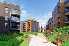 Moderne Europese architectuur van woningbouwkwart royalty-vrije stock foto's