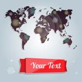 Moderne Fahnen, kreative Idee der Weltkarte, Flieger, Abdeckung infographics Elemente Lizenzfreie Stockfotografie