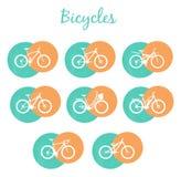 Moderne Fahrräder eingestellt Stockbild