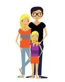 Moderne Familie Stock Afbeeldingen