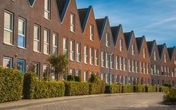 Moderne familiehuizen op een rij Royalty-vrije Stock Fotografie