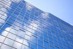 Moderne Fassade des Glases und des Stahls Stockfotografie