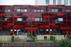 Moderne Fassade mit Garten in Amsterdam Lizenzfreie Stockbilder