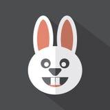 Moderne flache Design-Kaninchen-Ikone Stockbild