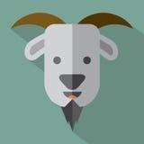 Moderne flache Design-Ziegen-Ikone Lizenzfreies Stockfoto