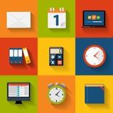 Moderne flache Ikone eingestellt für Netz und Mobile Stockbild