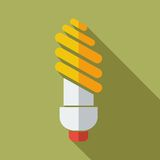 Moderne flache Konzept- des Entwurfesikonenlampe Stockfotografie
