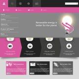 Moderne flache Vektorillustration der Website-Schablonen-ENV 10 Lizenzfreie Stockfotografie