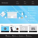 Moderne flache Vektorillustration der Website-Schablonen-ENV 10 Lizenzfreies Stockbild
