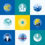 Moderne flache Vektorkonzepte für Website, bewegliche apps und printe Lizenzfreies Stockfoto