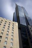 Moderne flat de stad in Stock Foto