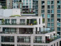 Moderne flatgebouwen Stock Foto
