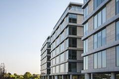 Moderne flatgebouwen Stock Foto's