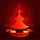 Moderne Form konzipierte rotbraunen Weihnachtsbaum lizenzfreie abbildung