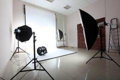Moderne fotostudio Stock Afbeelding