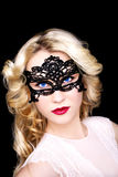 Moderne Frau in der Maske Stockbild