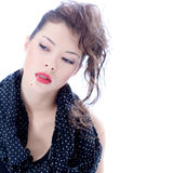 Moderne Frau mit kreativer Frisur Lizenzfreie Stockbilder
