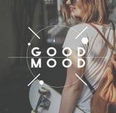 Moderne Frauen-Art-glückliches Mädchen-Konzept lizenzfreie stockfotos