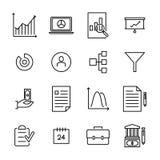 Moderne freelance de pictogrammeninzameling van de overzichtsstijl Stock Foto
