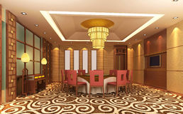 moderne Gaststätte 3d Lizenzfreies Stockfoto