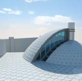 Moderne gazebo buiten 3D illustratie Royalty-vrije Stock Foto's