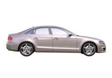 Moderne geïsoleerde luxeauto Royalty-vrije Stock Afbeelding