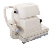 Moderne geautomatiseerde die tonometer op wit wordt geïsoleerd stock fotografie