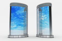Moderne Gebäude, gebogene Seite Lizenzfreie Stockfotos
