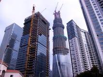 Moderne Gebäude im Bau Lizenzfreies Stockfoto