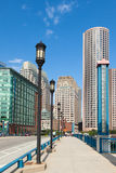 Moderne Gebäude im Finanzbezirk in Boston - USA Stockbild