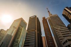 Moderne Gebäude im Sao Paulo City Lizenzfreies Stockfoto