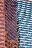 Moderne Gebäude im städtischen Kern Stockbilder