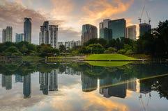 Moderne Gebäude in Kuala Lumpur, Malaysia-Geschäftsgebiet Stockfotografie