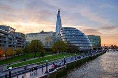 Moderne Gebäude in London, Großbritannien Stockfotografie