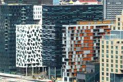Moderne Gebäude in Oslo Stockfotos