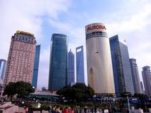 Moderne Gebäude in Pudong Stockfotografie