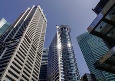 Moderne Gebäude in Singapur stockbild