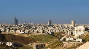 Moderne Gebäude und Marksteine Amman-Skyline Stockbilder