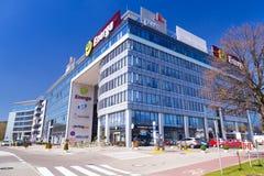 Moderne Gebäudearchitektur von Olivia Business Centre Stockfotografie