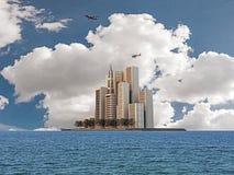 Moderne gebouwen Stock Afbeeldingen