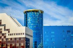 Moderne gebouwen in Astana stock foto's