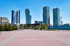 Moderne gebouwen in Astana Kazakhsatan Stock Afbeeldingen