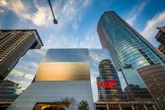 Moderne gebouwen in Banqiao, in de Nieuwe Stad van Taipeh, Taiwan Royalty-vrije Stock Afbeeldingen