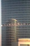 Moderne gebouwen. Bezinning. royalty-vrije stock afbeelding