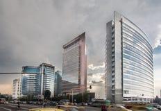 Moderne Gebouwen in Bogota Colombia Stock Afbeeldingen
