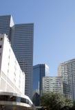 Moderne gebouwen in Dallas van de binnenstad Stock Foto's