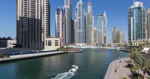 Moderne gebouwen in de Jachthaven van Doubai Royalty-vrije Stock Fotografie