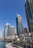 Moderne gebouwen in de Jachthaven van Doubai Royalty-vrije Stock Foto's